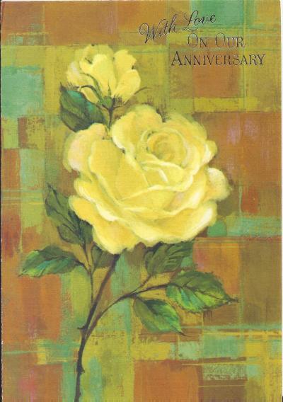Anniversary card 1960s